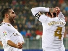 Real Madrid conta com os retornos de Sergio Ramos e Dani Carvajal. EFE/Juan Herrero/Arquivo