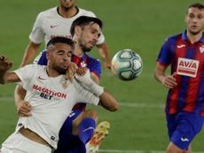 Oliveira valoró el empate ante el Celta. EFE/Julio Muñoz