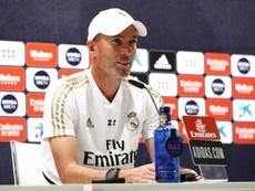 Zidane analizza la sfida contro il Granada in conferenza. EFE