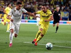 Vázquez foi substituído contra o Huesca por conta de sobrecarga muscular. EFE/Juan Carlos Cárdenas