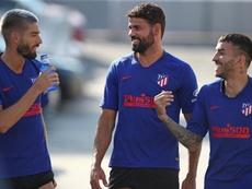 Diego Costa regresó al grupo. EFE