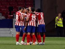 El Atlético volvió a asegurarse su plaza Champions por octava temporada seguida. EFE