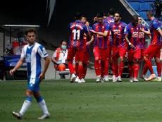 El Eibar derrotó a un ya descendido Espanyol. EFE
