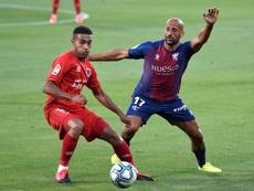 Mikel Rico evaluó las opciones de la SD Huesca en Primera. EFE