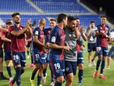La SD Huesca ha vuelto al trabajo, sin fichajes por el momento. EFE/Archivo