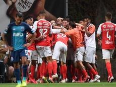 Quando David Carmo foi dispensando do Benfica. EFE/EPA/HUGO DELGADO