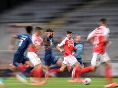 El Braga abraza la magia de Trincao para tumbar al campeón. EFE
