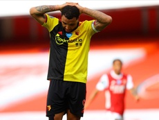 Troy Deeney and Watford are relegated from the Premier League after losing 3-2 at Arsenal. EFE