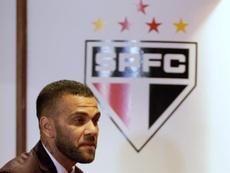 Dani Alves pidió responsabilidad al fútbol brasileño tras la suspensión. EFE/Fernando Bizerra Jr/Arc