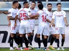 El Sevilla derrotó 2-0 a la Roma. EFE
