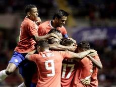 Los equipos de Costa Rica, en contra de un amistoso contra México. EFE