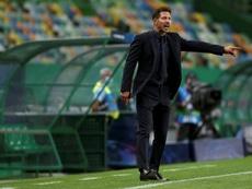 La curiosa respuesta de Simeone cuando le preguntaron por Messi. EFE