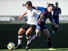 Eva Navarro anotó un golazo en la semifinal. EFE