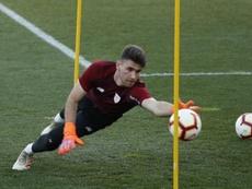 Unai Simón, goleiro do Athletico Bilbao e da seleção espanhola. EFE/Luis Tejido/Arquivo