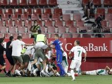 Elche y Real Sociedad se ven las caras en el Martínez Valero. EFE/Andreu Dalmau