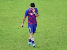 Luis Suárez é cotado para deixar o Barcelona. EFE/JuanJo Martín