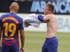 Braithwaite could miss the start of La Liga. EFE