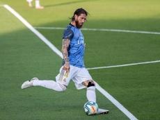 Sergio Ramos trabaja duro para estar en el 'Clásico'. EFE/Archivo