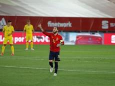 Doublé historique de Sergio Ramos contre l'Ukraine. EFE