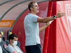 Garitano alabó el trabajo de sus jugadores. EFE