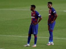 Junior Firpo no ve con muy buenos ojos salir del Barcelona. EFE