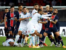 Olympique de Marseille vence o clássico contra o PSG. Captura/Vamos