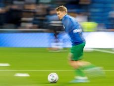 L'entraîneur de la Real Sociedad encense Odegaard. efe
