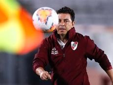 Gallardo cumplió 300 partidos como técnico de River. EFE