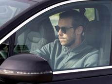 Bale à l'aéroport de Madrid pour rejoindre Londres. EFE