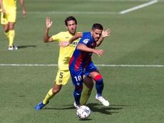 Parejo, contento por la reacción del Villarreal. EFE/Domenech Castelló