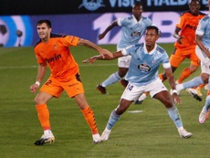 El Valencia pidió las imágenes y el audio del primer tanto del Celta. EFE