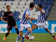 Madrid y Real Sociedad siguen negociando por Odegaard. EFE