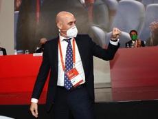 Luis Rubiales empieza a tener asumido que su lucha contra LaLiga está perdida. EFE/RFEF