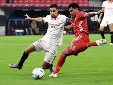 Las prórrogas condenaron al Sevilla en la Supercopa de Europa. EFE