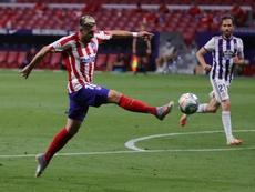 Nouvelle inquiétude pour l'Atlético ? Herrera n'a pas joué, gêné par une surcharge musculaire. EFE