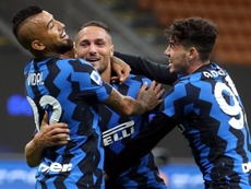 El Inter ganó 4-3 a la Fiorentina. EFE