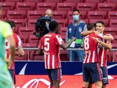 Luis Suárez a réussi ses débuts avec l'Atlético Madrid. EFE