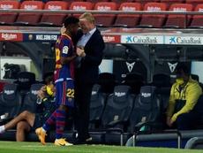 El primer Barça de Koeman: más vertical, efectivo y seguro. EFE