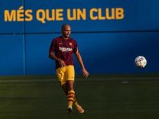 Braithwaite consiguió romper una racha negativa de cinco años en el Barça. EFE