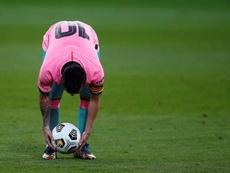 Leo Messi, à deux petits buts de Pelé. EFE