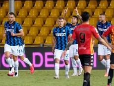 A Inter de Milão derrotou o Benevento em jogo atrasado da primeira rodada. EFE/EPA/MARIO TADDEO