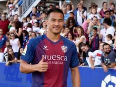 Okazaki fue titular en los cinco partidos de la SD Huesca en la Liga. EFE