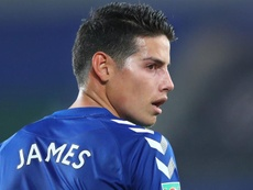 James recibió los elogios de Yerry Mina. EFE