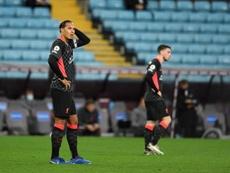 A histórica goleada de 7 a 2 do Aston Villa sobre o Liverpool. EFE/EPA/Peter Powell