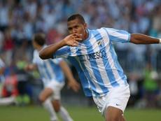 Rondón, con la espina de no haber jugado la Champions con el Málaga. EFE