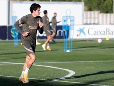 Giménez, gran novedad en el entrenamiento del Atleti. EFE