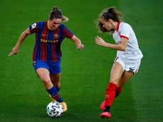 El Barça Femenino se reparte el gol. EFE