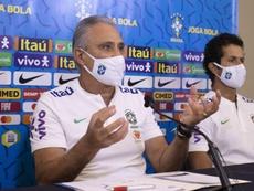 Tite fará nova convocação para as Eliminatórias da Copa do Mundo de 2022. EFE/ Lucas Figueiredo/CBF