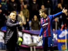 Al Levante le anularon un gol legal en el 94 contra el Celta. EFE