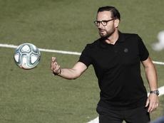 Bordalás sufrió ante el Athletic su mayor castigo. EFE